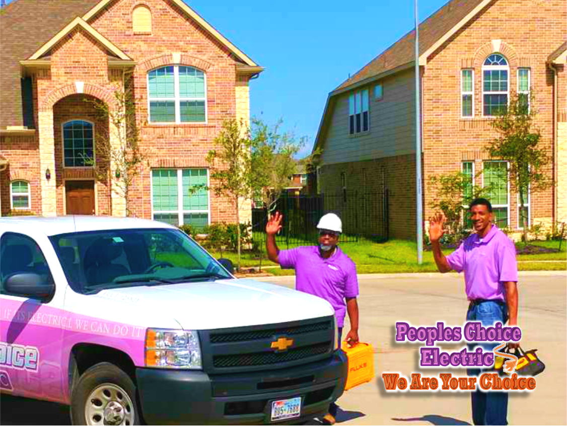 ELECTRICIAN HOUSTON ELECTRICAL CONTRACTOR SERVICES COMPANY PEOPLES CHOICE ELECTRIC 832-216-5215